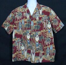 Royal Creations Hawaiian Shirt Men's L Cotton Floral Multi-Color Short Sleeve