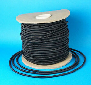 10 Metres 6mm BLACK Elastic Bungee Shock Cord Rope for Trailer Cover Tie Down #2