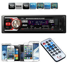 Car Stereo Audio In Dash 1 DIN FM Radio Mp3 Player USB SD Input AUX Receiver New