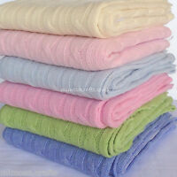 Baby Blanket Cashmere Cable Knit Warm & Soft Infant Swaddle Newborn Carry Wrap