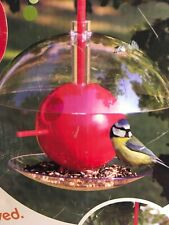 Bird Feeder Birdhouse BIRDPODS Sphere Multi-functional Adjustable House RED