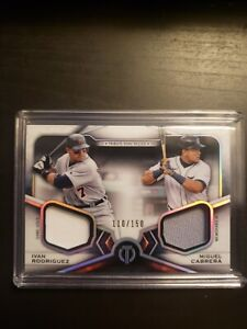 2021 Topps Tribute Dual Patch Ivan Rodriguez | Miguel Cabrera 110/150 Tigers
