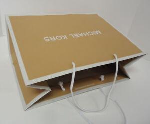 LOT of 2 MICHAEL KORS MK Medium Retail Paper Shopping Gift Bag 15 x 11 x 6.5 New