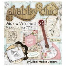 Debbi Moore Designs Shabby Chic Music Volume 2 Papercrafting CD Rom (328345)