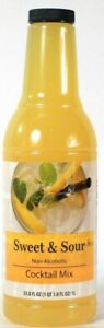 1 Bottles Sysco 33.8 Oz Sweet & Sour Tangy Citrusy Flavor Classic Cocktail Mix