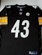 Troy Polamalu NFL Reebok football Jersey  Pittsburg Steelers black and yellow XL
