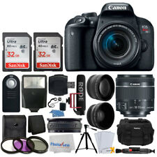 Canon EOS Rebel T7i DSLR Camera + 18-55mm Lens - Video Creator Kit + Accessories