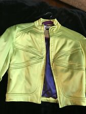 Vintage thierry mugler jacket Satin 90sLime Green Nwots Limited Edition Classic