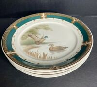 "Keltcraft Noritake Duck WICKLOW GREEN 8 1/4 "" Salad Plates Set Of 4 EUC"