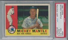 MICKEY MANTLE PSA/DNA CERTIFIED AUTHENTIC SIGNED 1960 TOPPS CARD #350 AUTOGRAPH