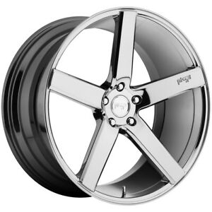 "Niche M132 Milan 19x8.5 5x4.5"" +35mm Chrome Wheel Rim 19"" Inch"