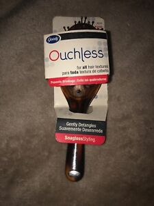 Rare Goody Ouchless Gentle Hair Brush Comfort Flex Brown 2006 Purse Size 88234