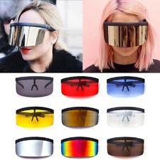 Summer Sunglasses Goggles Sun Glasses Glasses Big Frame Shield Visor  Windproof