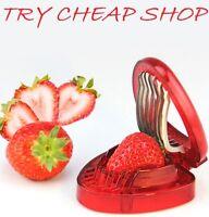 Strawberry Berry Stem Gem Leaves Huller Remover Fruit Corer Slicer Cutter Split