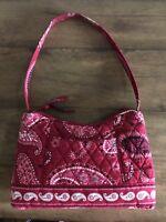 Vera Bradley - Mesa Red Paisley Pattern  - Hobo Purse/handbag  EUC