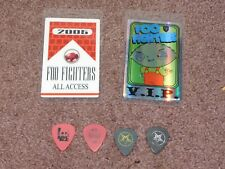 Foo Fighters In Your Honor Tour 2 Backstage Passes and 4 Guitar Pick Set 2006