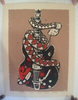 True Believers Poster Concert Tour Snake-Wrapped Guitar Alejandro Escovedo
