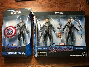 Marvel Legends Avengers Hawkeye & Black Widow Target Exclusive + Captain America
