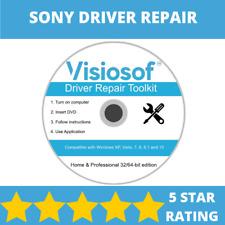 SONY Drivers Software Repair Restore Recover CD DVD Disc Windows 10 8 7 Vista XP