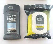 Dove Men + Care 2.7 oz. Antiperspirant & 25 Pack Deodorant Wipes Towelettes