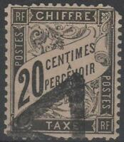 "FRANCE STAMP TIMBRE TAXE  N° 17 "" TYPE  DUVAL 20c NOIR "" OBLITERE  A VOIR"