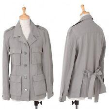 agnes b. Cotton Stripe Safari Jacket Size 38(K-38405)
