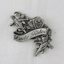 Biker Moto da Donna LADY Rider Rose ANGELS ANGELI PIN SPILLA SPILLA NUOVO