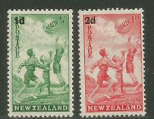 New Zealand 1939 Health/Child Semipostal--Attractive Sports Topical (B14-15) MH