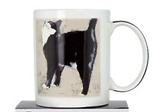 Ashdene Whiskers Range Cat Mug Billie Blk & White Fine China