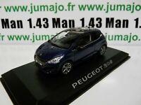 PE10 VOITURE 1/43 NOREV : PEUGEOT 208 bleu virtuel 3 portes