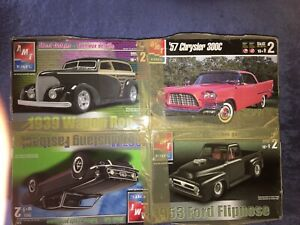 AMT Model Car Value Pack - 1953 FlipNose 1939 Wagon Rod 1967 Fastback 1957 300c