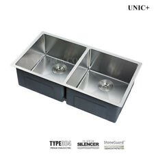"Combo Deal 33"" Undermount Kitchen Sink, Small Radius double 50/50. KUR3318A"