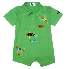Oshkosh B'gosh Green Flyboy Romper w/ Collar Infant/Baby Boy Clothes, 12 months