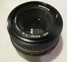 Minolta MD 50mm f/2 Lens X-700 X-370 X-570 SRT 202 201 101 XD11 XD5