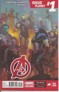 °AVENGERS #24 ADAPT OR DIE - ROGUE PLANET 1von 5° US Marvel 2014 J. Hickman