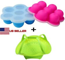 2 Mini Egg Bites Tray Accessory for 3 qt Instant Pot with Silicone Sling Steamer