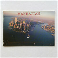 Manhattan New York City Aerial View 2002 Postcard (P362)