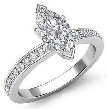 Marquesita Forma Diamante Mujer Clásico Anillo de Compromiso GIA i SI1 Platino