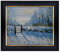 Framed Claude Monet The Magpie Repro Quality Hand Painted Oil Painting 20x24in