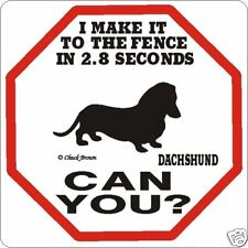Dachshund 2.8 Fence Dog Sign