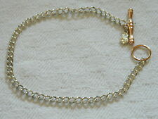 Clogau Argento Sterling & 9ct Oro Rosa Welsh T-Bar Bracciale con Charm RRP £ 330.00