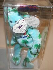 Ty Beanie Babies I Love Guam Exclusive True Blue Beans C of A Museum Quality
