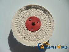 "6""X1""(150X25MM) Close Spiral Sewn Cloth Buffing Wheel for polishing metal"