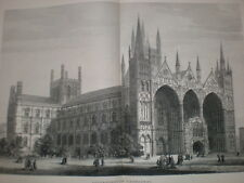Peterborough Cathedral Samuel Read large old print 1880