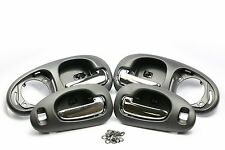 BLACK/CHROME SET OF 4 Interior Inside Door Handle for 98-04 CONCORDE LHS 300M