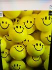 """8 SMILEY FACE STRESS RELIEF BALLS 2"""" FOAM HAND THERAPY SQUEEZE TOY BALL"""