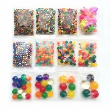 Lot de 12 sachets de billes d'eau hydrogel gel perle plusieurs tailles + animaux