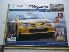 RENAULT MEGANE PIRELLI INTER RALLY 1997 ROBBIE HEAD AUTOSPORT POSTER *AS PICS*