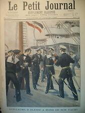 GUILLAUME II YACHT PAPILLON SPHINX DE LA VIGNE PETERHOF LE PETIT JOURNAL 1897