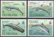 Timbres Faune marine Cétacés Baleines Dauphins Ste Hélène 470/3 ** lot 18535